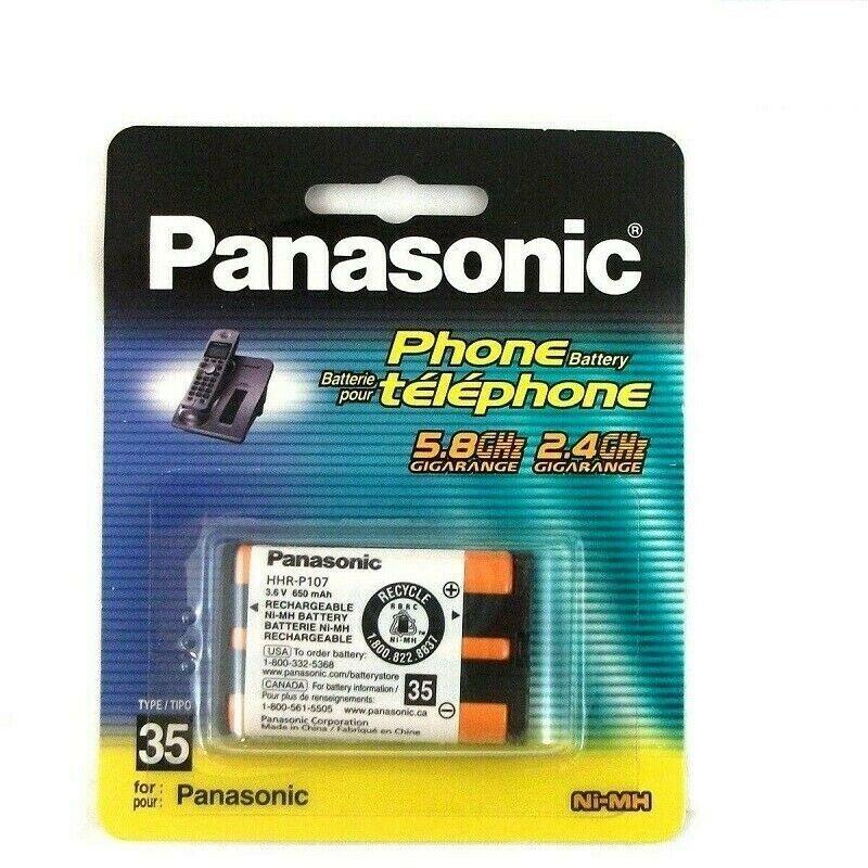 Panasonic Cordless Phone Battery, P107A, Type 35 Ni-MH, 3.6V