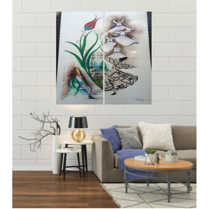 Wall Frames 2 Pieces Set Canvas – Digitally Printed Wall Canvas F-100