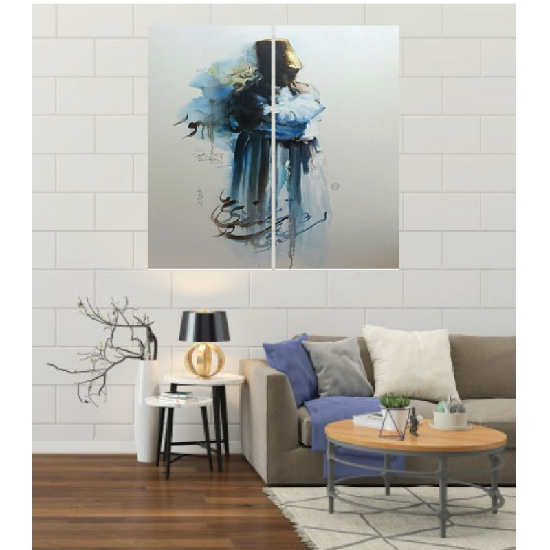 Wall Frames 2 Pieces Set Canvas – Digitally Printed Wall Canvas F-108
