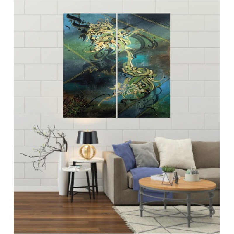 Wall Frames 2 Pieces Set Canvas – Digitally Printed Wall Canvas F-128