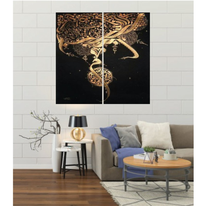 Wall Frames 2 Pieces Set Canvas – Digitally Printed Wall Canvas F-144