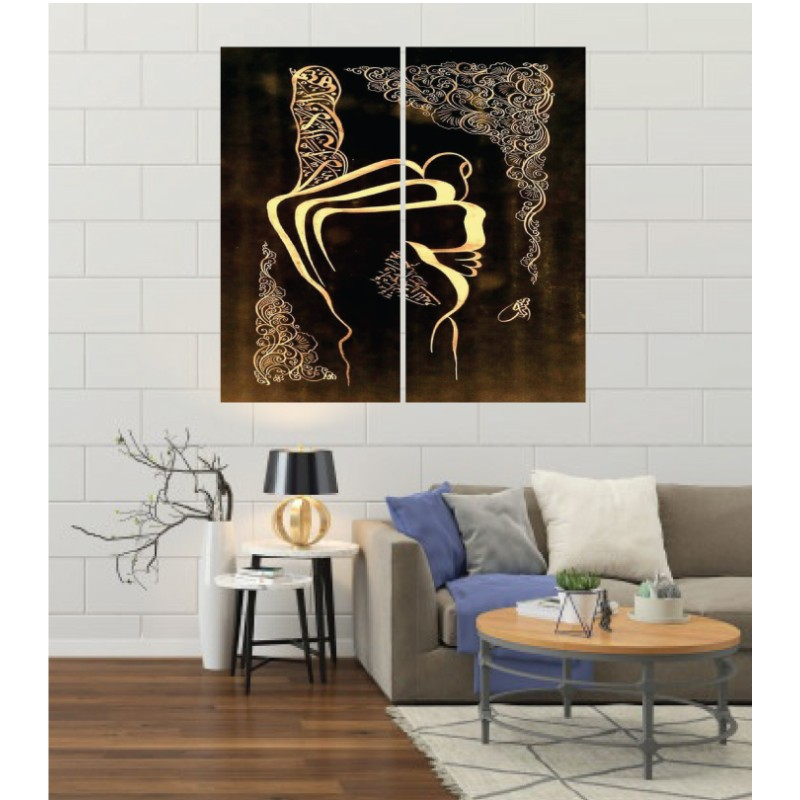 Wall Frames 2 Pieces Set Canvas – Digitally Printed Wall Canvas F-156