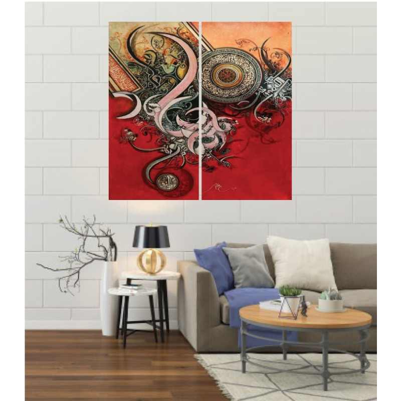 Wall Frames 2 Pieces Set Canvas – Digitally Printed Wall Canvas F-183