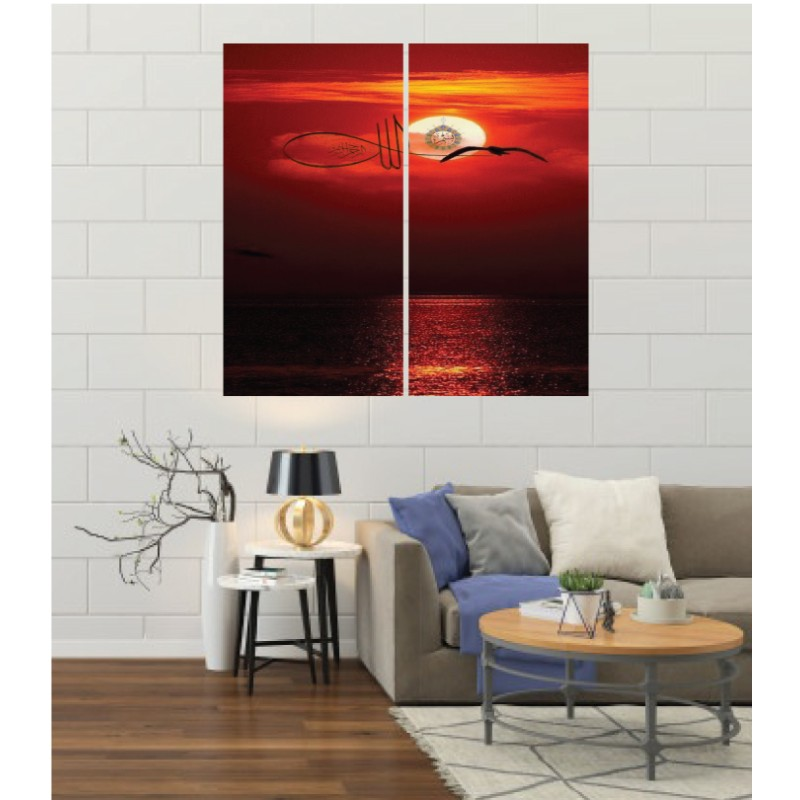 Wall Frames 2 Pieces Set Canvas – Digitally Printed Wall Canvas F-189