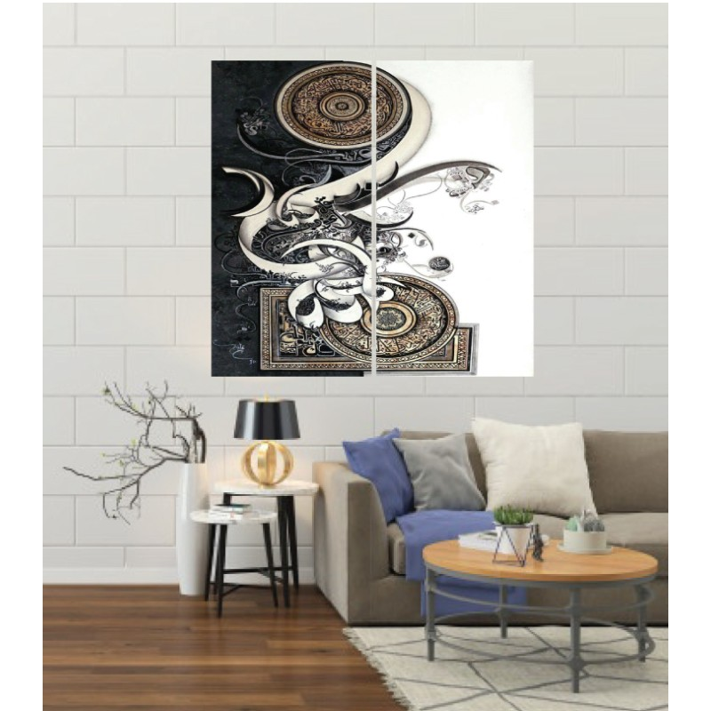 Wall Frames 2 Pieces Set Canvas – Digitally Printed Wall Canvas F-25