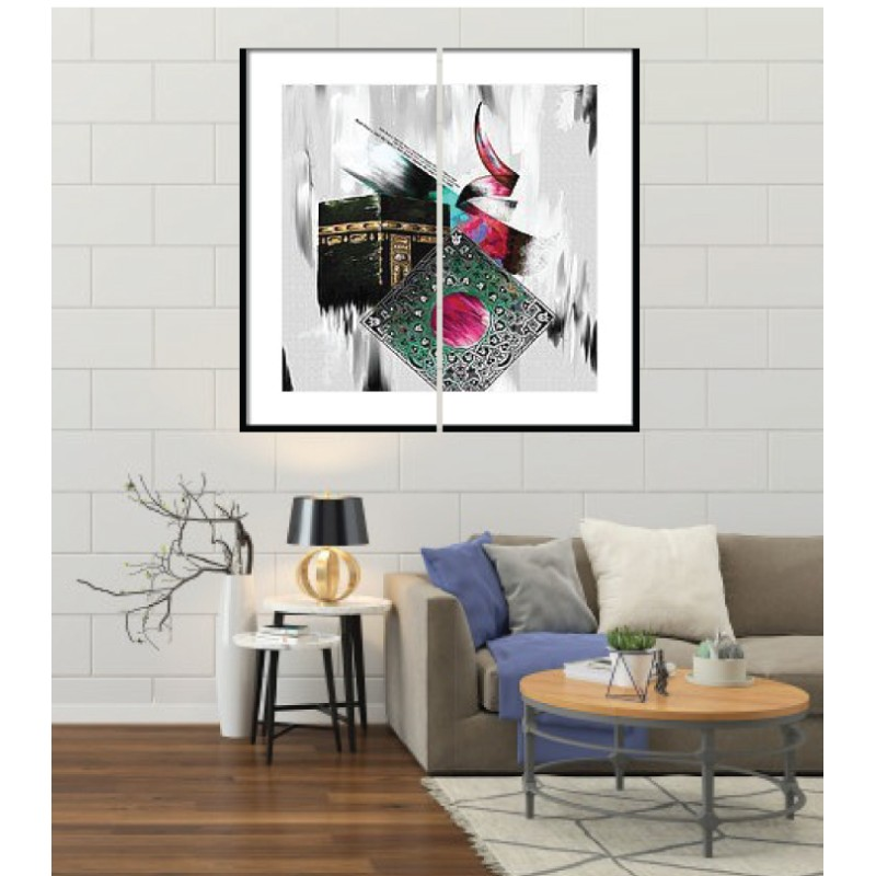 Wall Frames 2 Pieces Set Canvas – Digitally Printed Wall Canvas F-48