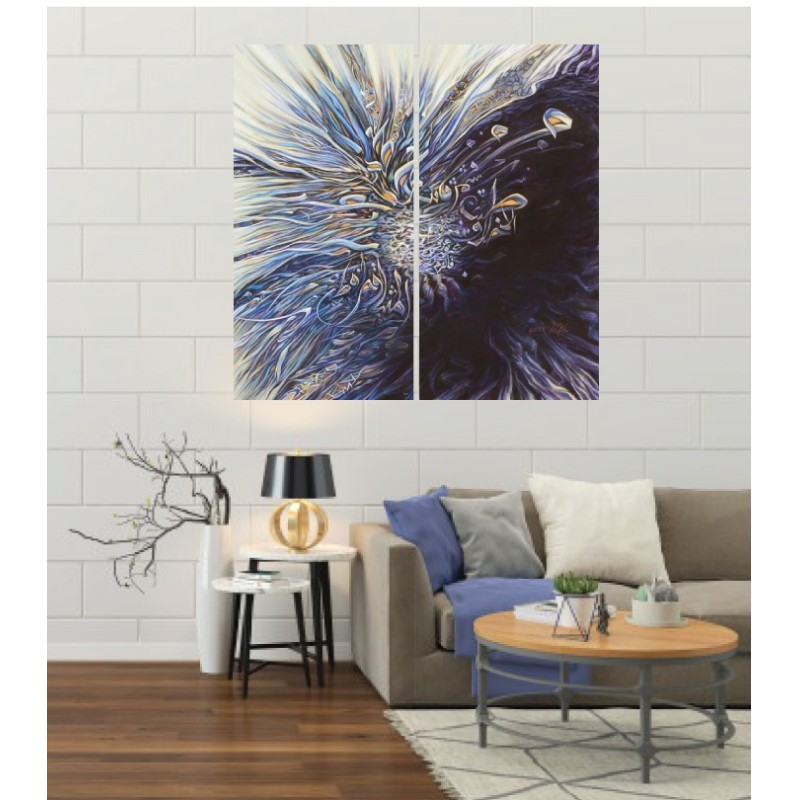 Wall Frames 2 Pieces Set Canvas – Digitally Printed Wall Canvas F-49