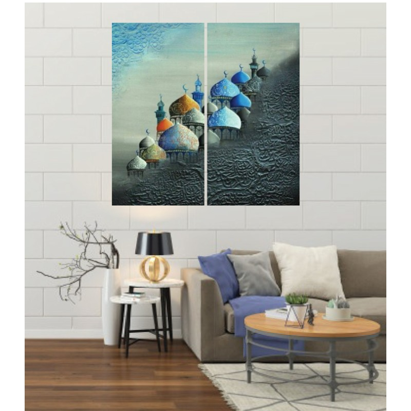 Wall Frames 2 Pieces Set Canvas – Digitally Printed Wall Canvas F-56