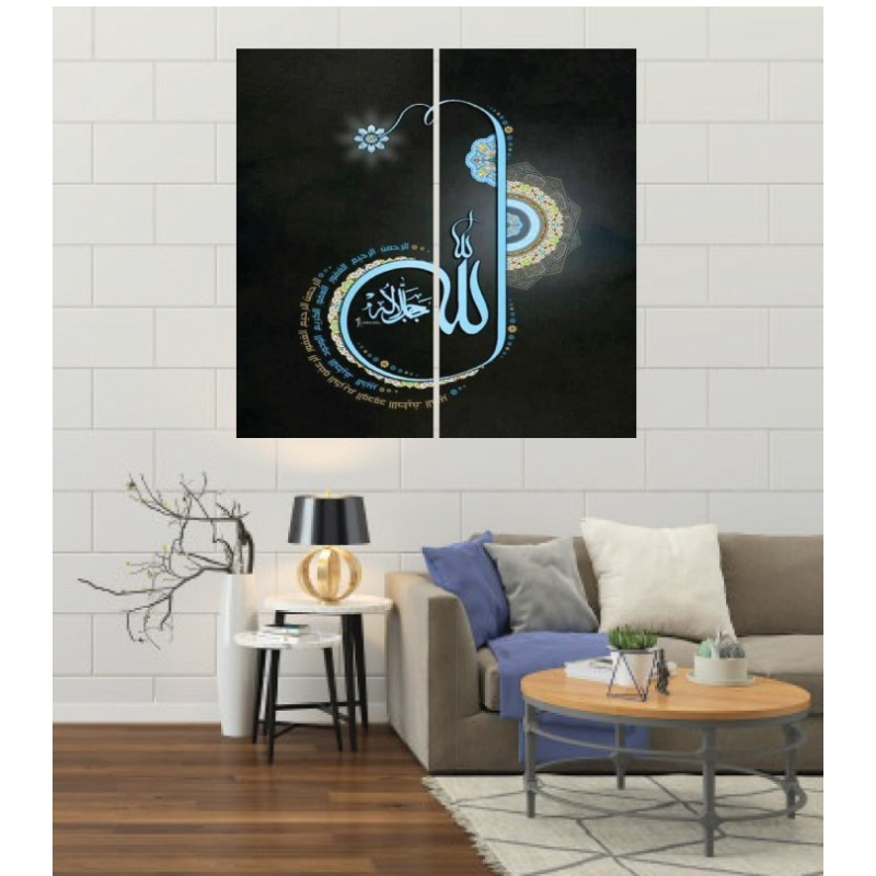 Wall Frames 2 Pieces Set Canvas – Digitally Printed Wall Canvas F-60