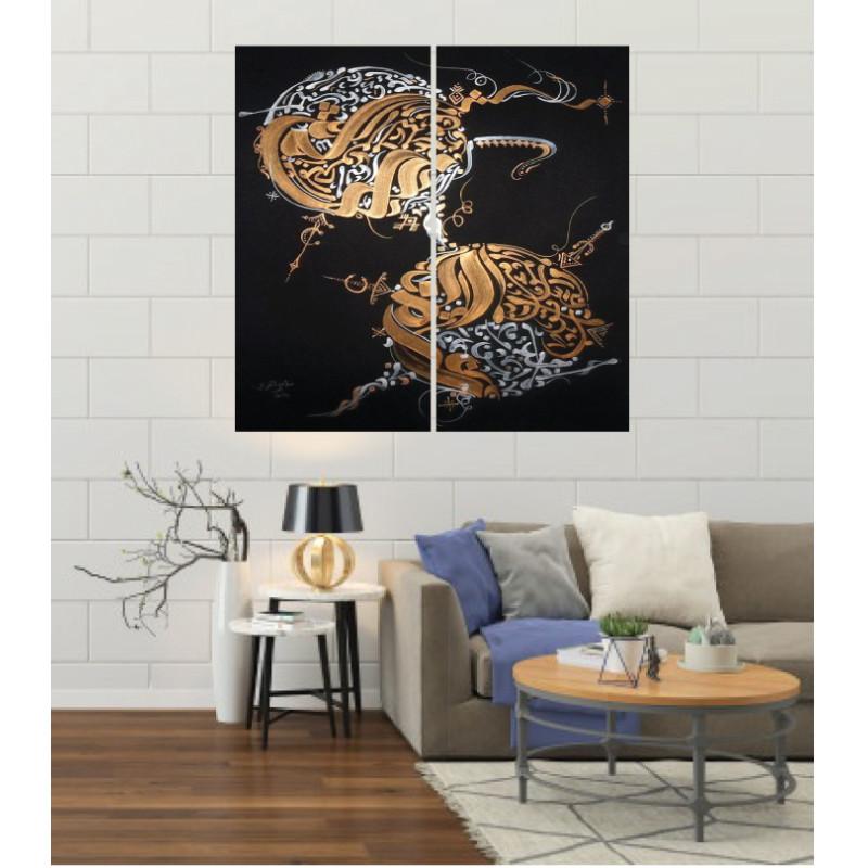 Wall Frames 2 Pieces Set Canvas – Digitally Printed Wall Canvas F-85