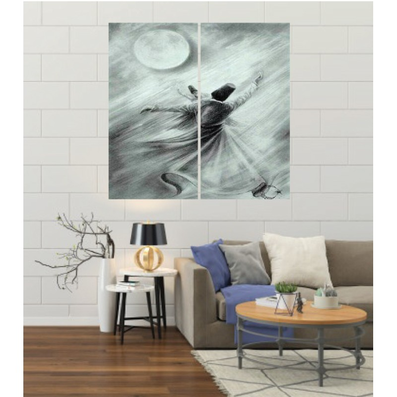 Wall Frames 2 Pieces Set Canvas – Digitally Printed Wall Canvas F-9