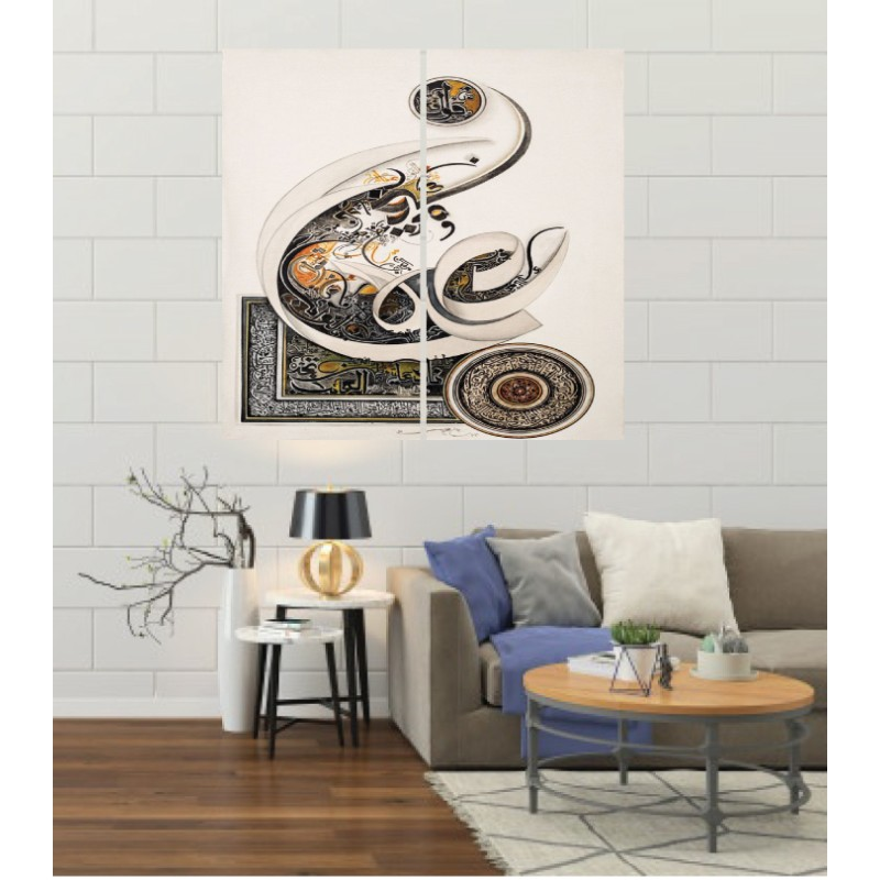 Wall Frames 2 Pieces Set Canvas – Digitally Printed Wall Canvas F-93