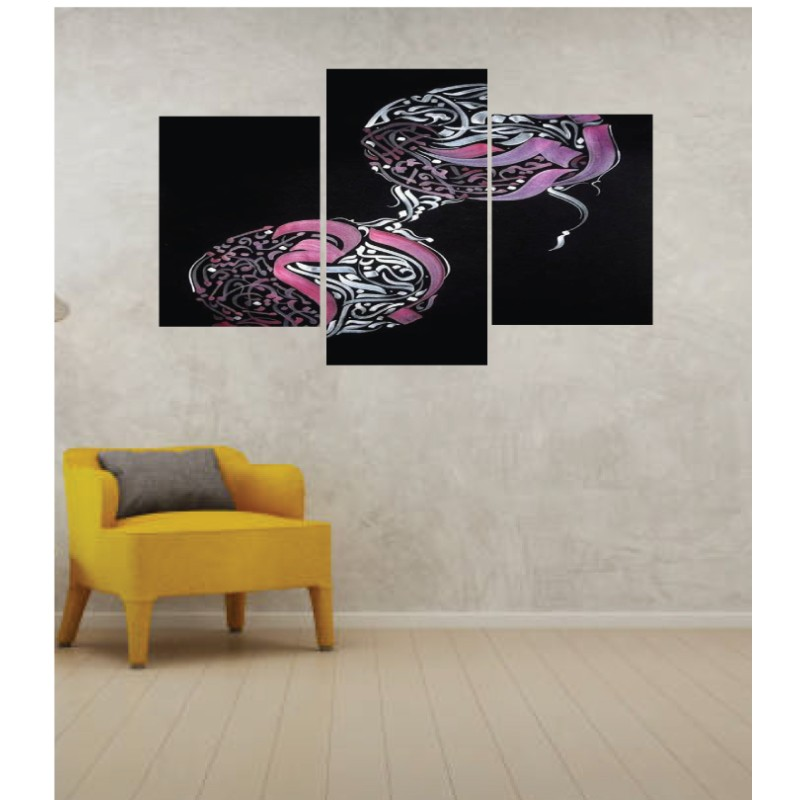 Wall Frames 3 Pieces Set Canvas – Digitally Printed Wall Canvas TI-162