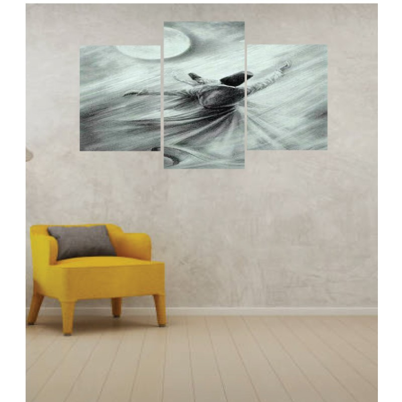 Wall Frames 3 Pieces Set Canvas – Digitally Printed Wall Canvas TI-9