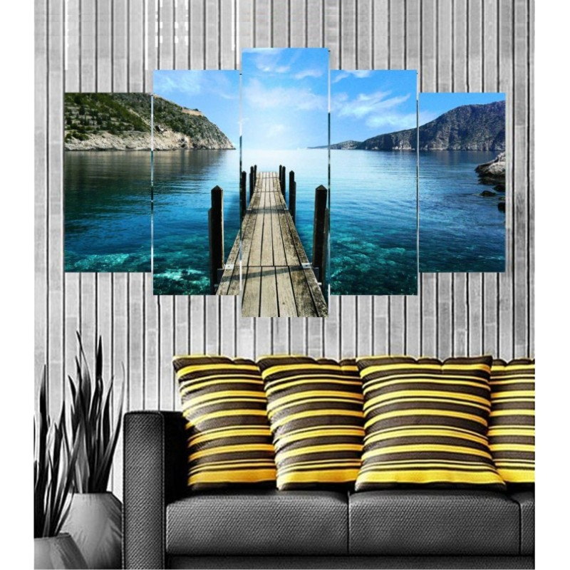 Wall Frames 5 Pieces Set Canvas - Digitally Printed Wall Canvas  post-104