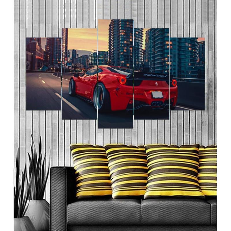 Wall Frames 5 Pieces Set Canvas - Digitally Printed Wall Canvas  post-108