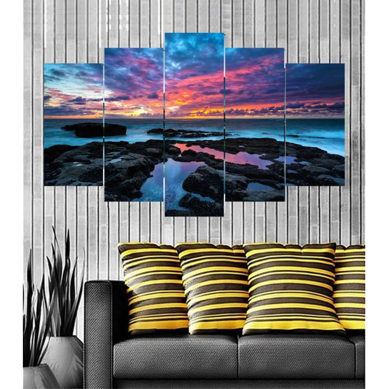 Wall Frames 5 Pieces Set Canvas - Digitally Printed Wall Canvas  post-42