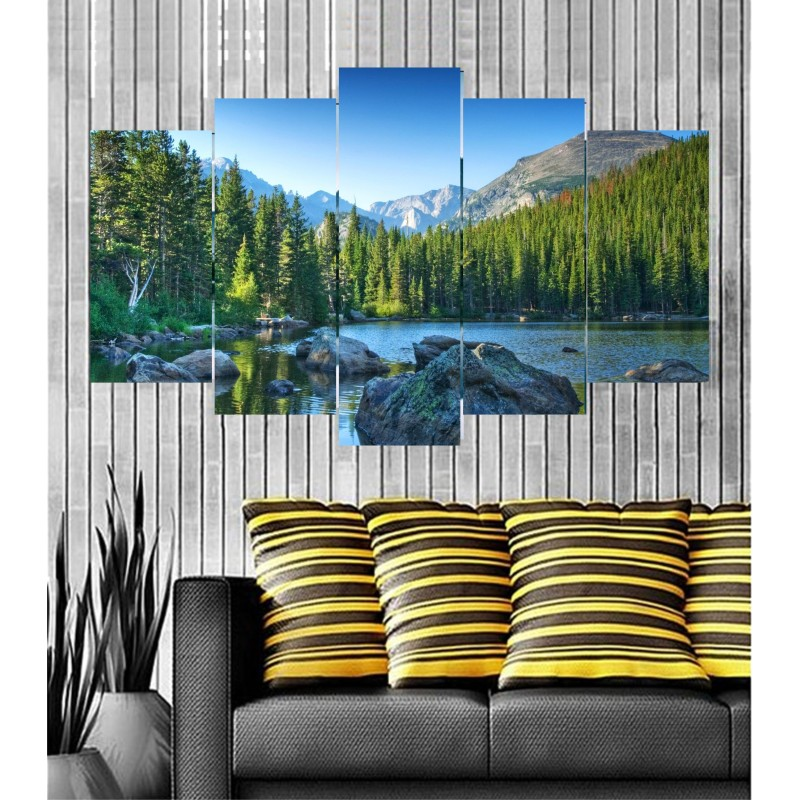 Wall Frames 5 Pieces Set Canvas - Digitally Printed Wall Canvas  post-44