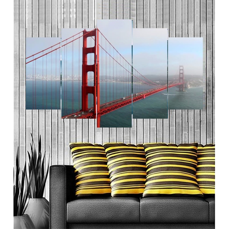 Wall Frames 5 Pieces Set Canvas - Digitally Printed Wall Canvas  post-47