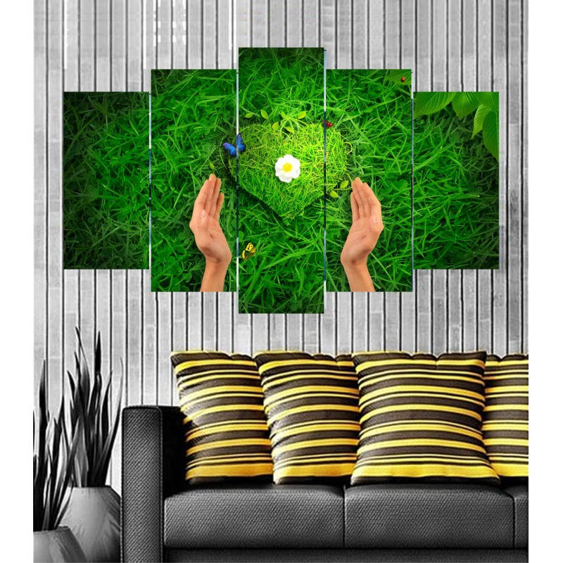 Wall Frames 5 Pieces Set Canvas - Digitally Printed Wall Canvas  post-100