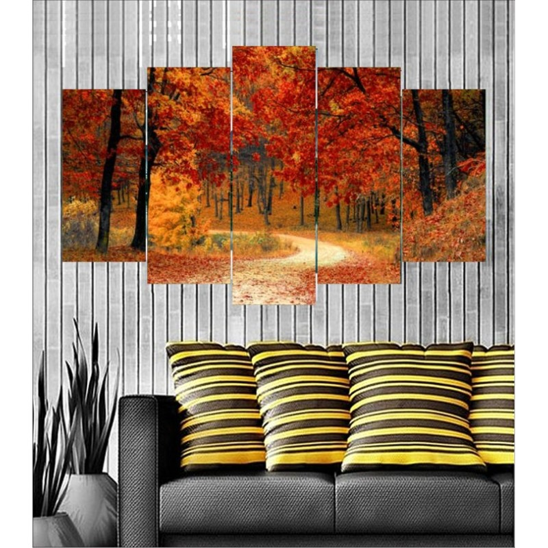 Wall Frames 5 Pieces Set Canvas - Digitally Printed Wall Canvas  post-102