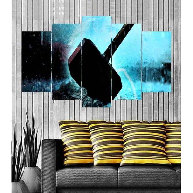 Wall Frames 5 Pieces Set Canvas - Digitally Printed Wall Canvas  post-105