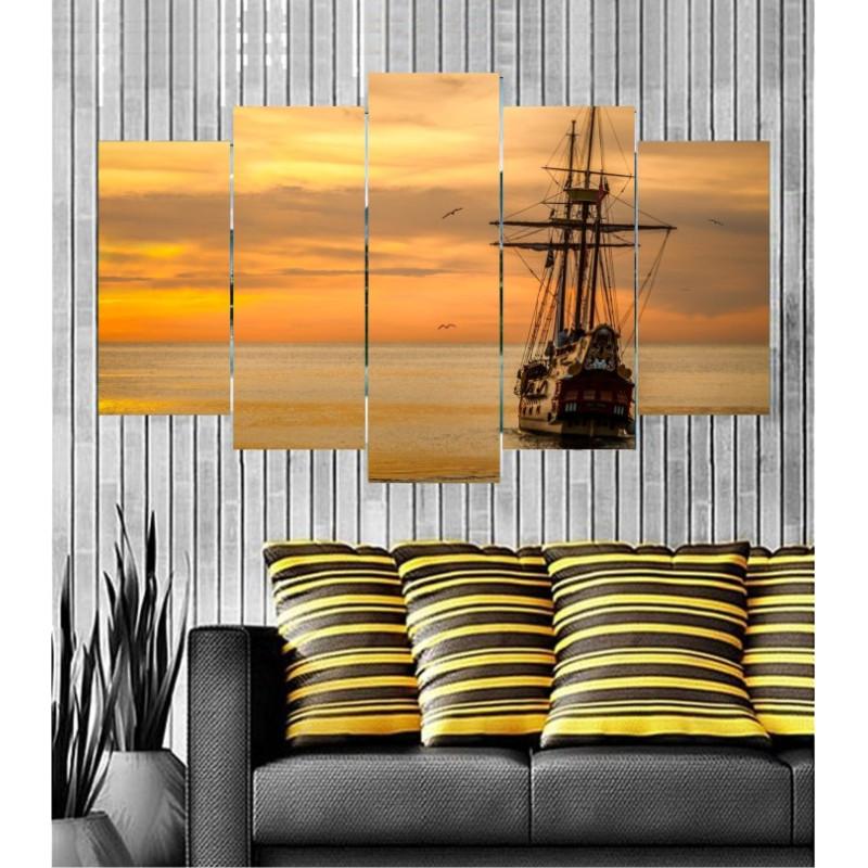 Wall Frames 5 Pieces Set Canvas - Digitally Printed Wall Canvas  post-115