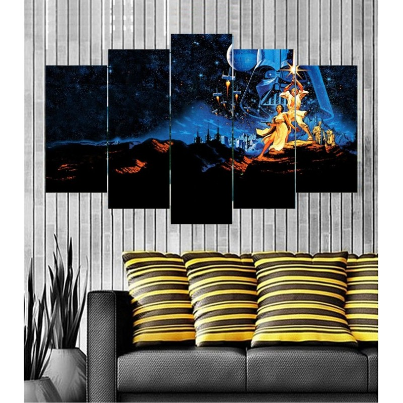 Wall Frames 5 Pieces Set Canvas - Digitally Printed Wall Canvas  post-118