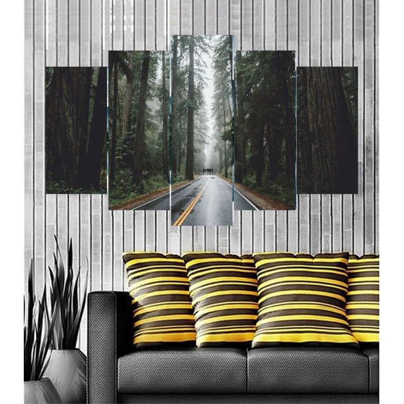 Wall Frames 5 Pieces Set Canvas - Digitally Printed Wall Canvas Frames post-12