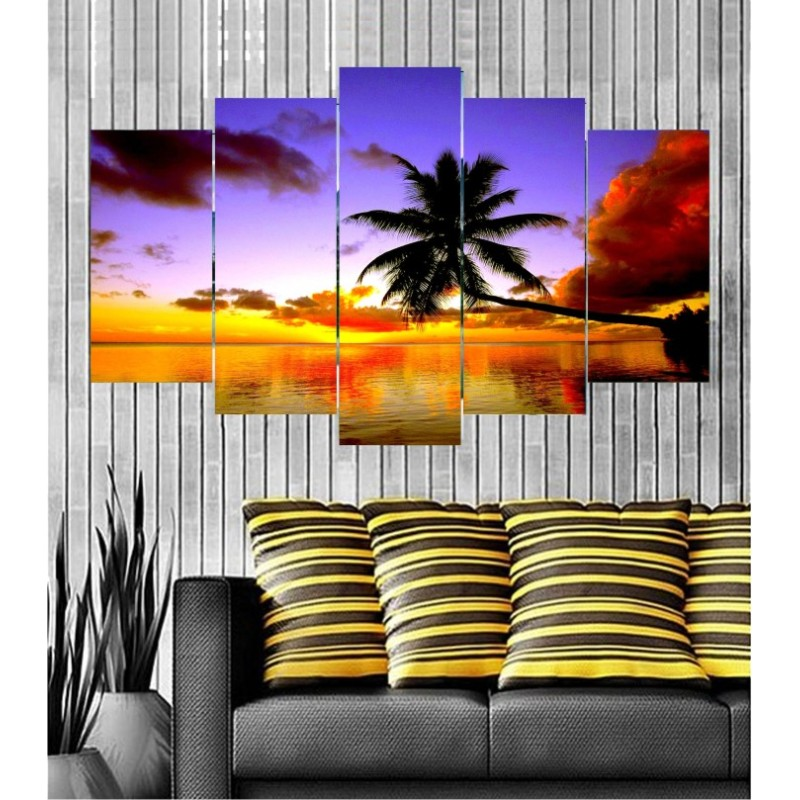 Wall Frames 5 Pieces Set Canvas - Digitally Printed Wall Canvas  post-121