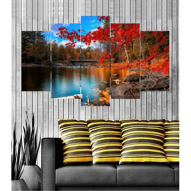 Wall Frames 5 Pieces Set Canvas - Digitally Printed Wall Canvas  post-128