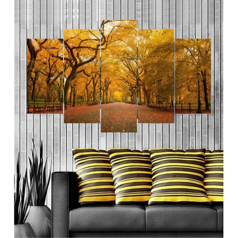 Wall Frames 5 Pieces Set Canvas - Digitally Printed Wall Canvas  post-129