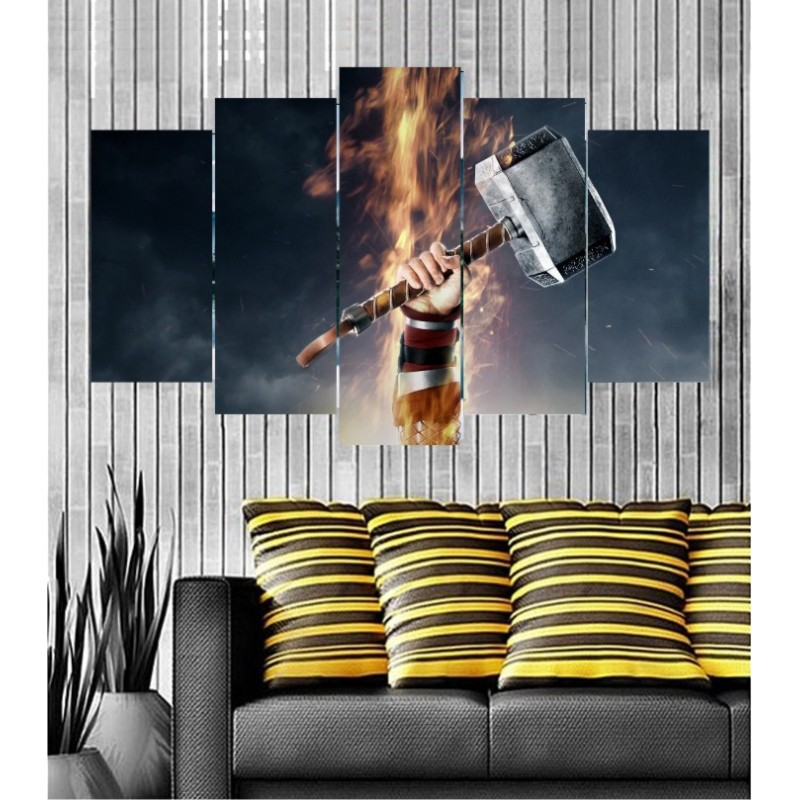 Wall Frames 5 Pieces Set Canvas - Digitally Printed Wall Canvas  post-132