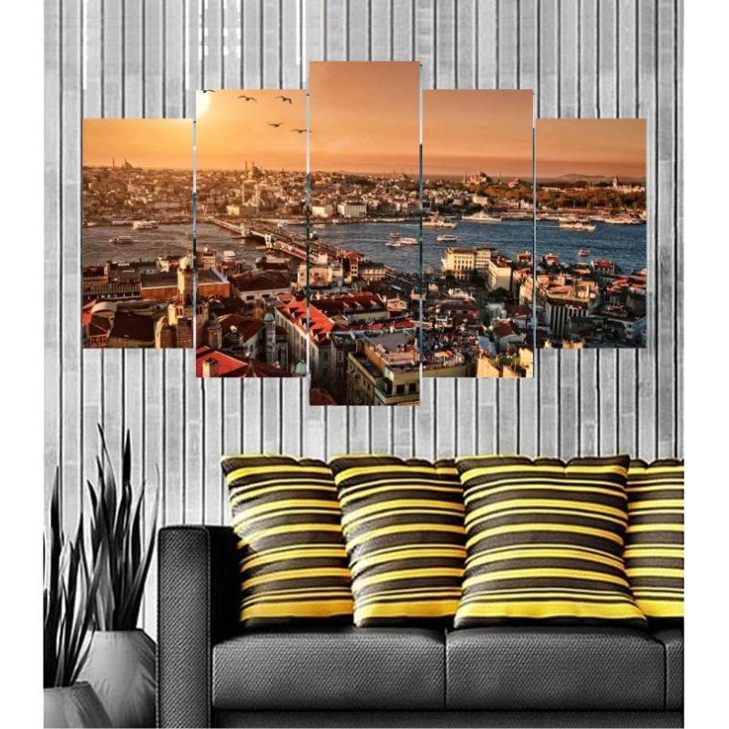 Wall Frames 5 Pieces Set Canvas - Digitally Printed Wall Canvas  post-140