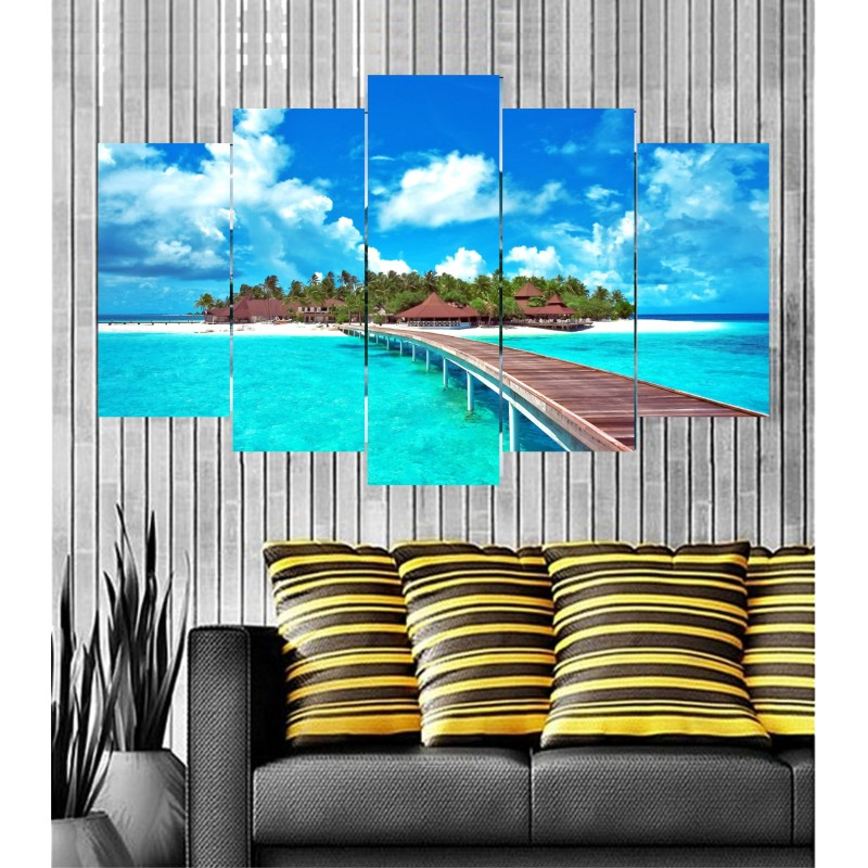 Wall Frames 5 Pieces Set Canvas - Digitally Printed Wall Canvas Frames post-15