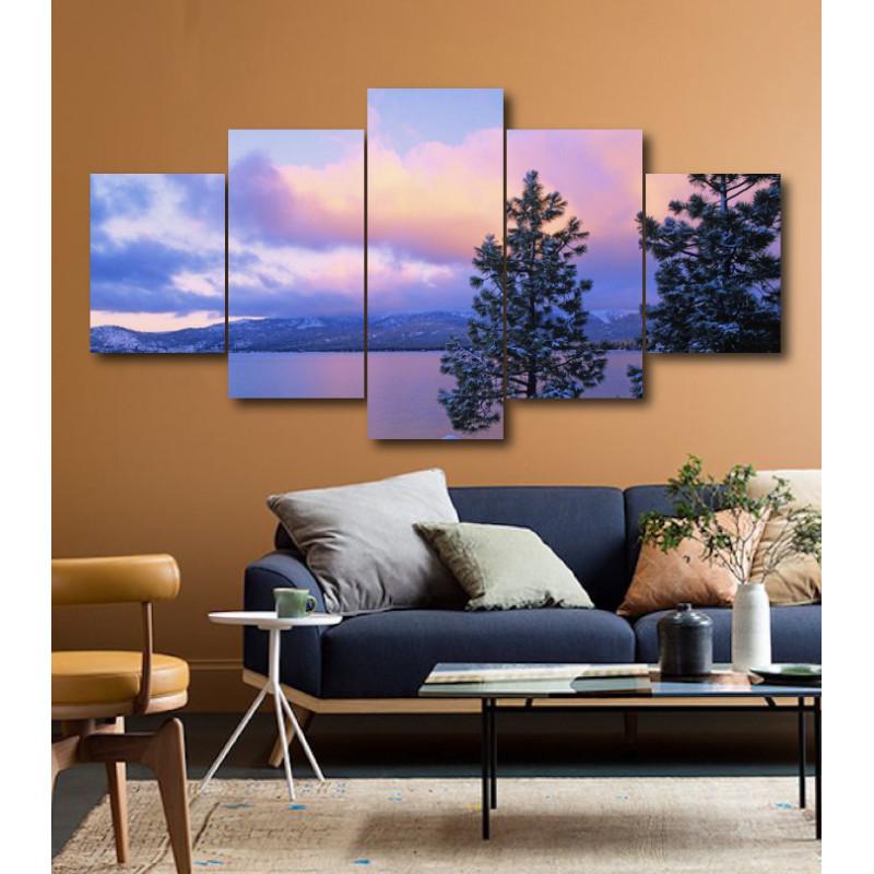 Wall Frames 5 Pieces Set Canvas - Digitally Printed Wall Canvas  post-152