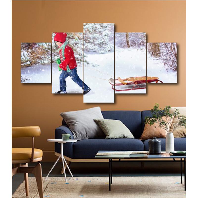 Wall Frames 5 Pieces Set Canvas - Digitally Printed Wall Canvas  post-154