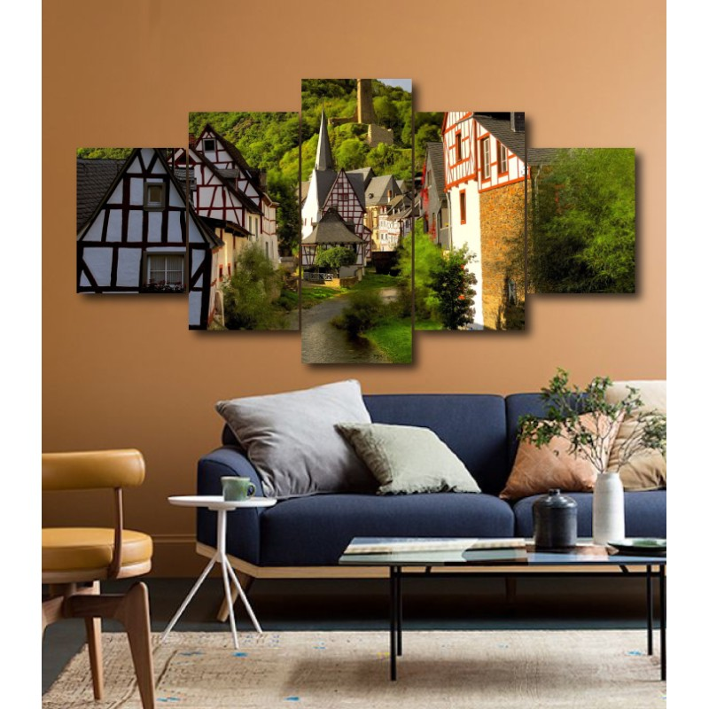 Wall Frames 5 Pieces Set Canvas - Digitally Printed Wall Canvas  post-159