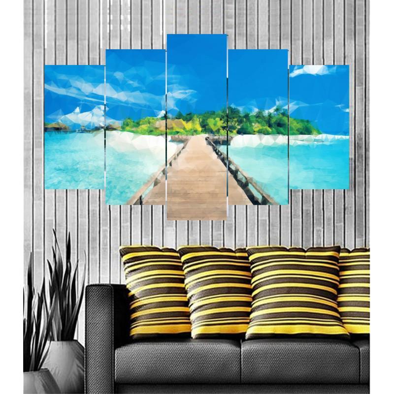 Wall Frames 5 Pieces Set Canvas - Digitally Printed Wall Canvas Frames post-16