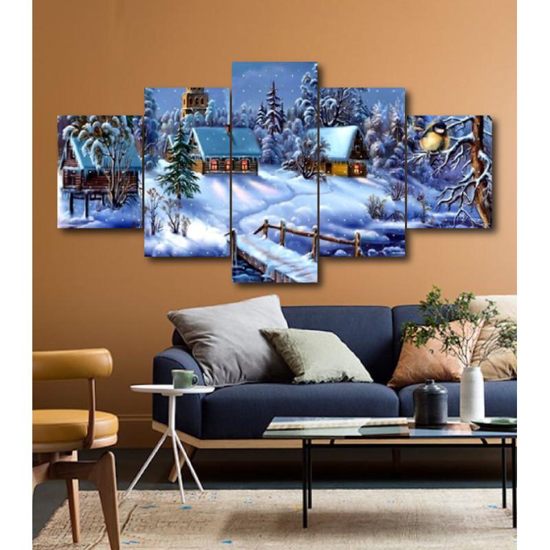 Wall Frames 5 Pieces Set Canvas - Digitally Printed Wall Canvas  post-161