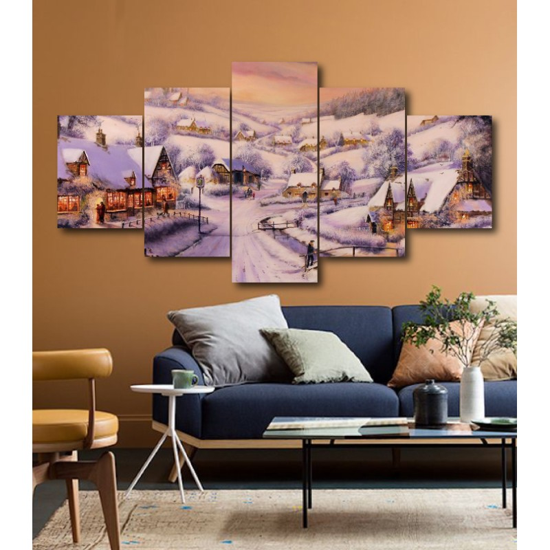 Wall Frames 5 Pieces Set Canvas - Digitally Printed Wall Canvas  post-163