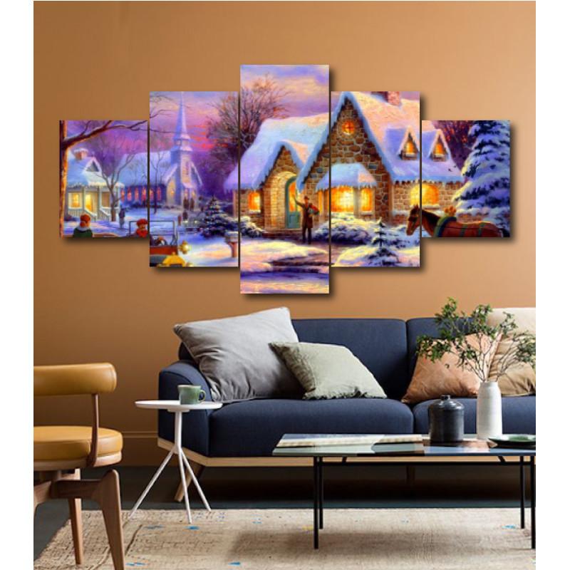 Wall Frames 5 Pieces Set Canvas - Digitally Printed Wall Canvas  post-164