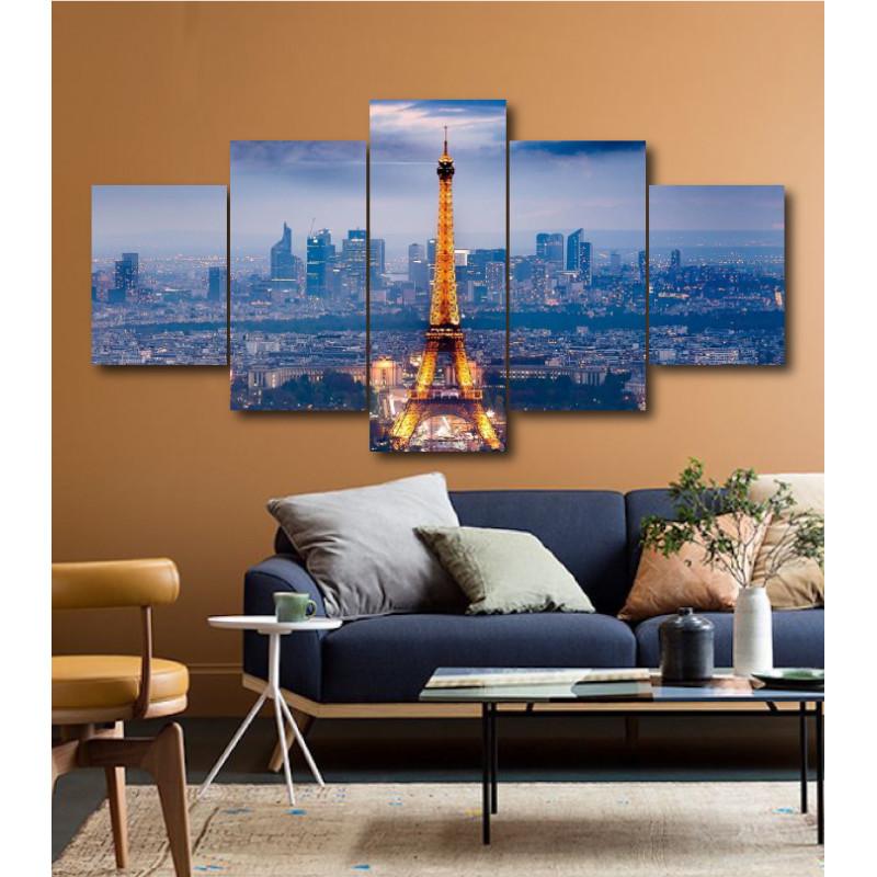 Wall Frames 5 Pieces Set Canvas - Digitally Printed Wall Canvas  post-167