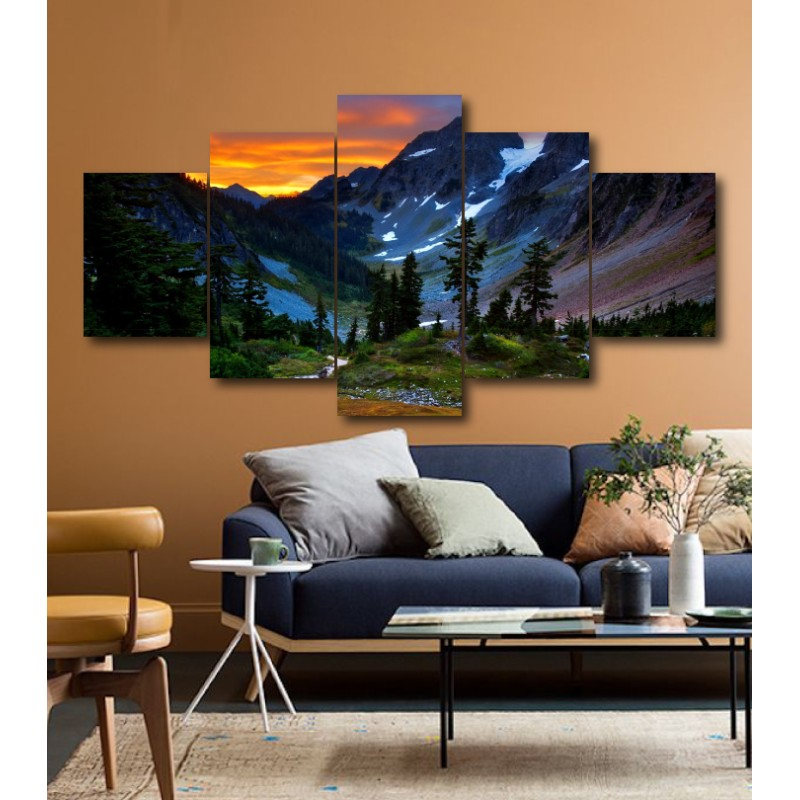 Wall Frames 5 Pieces Set Canvas - Digitally Printed Wall Canvas  post-171