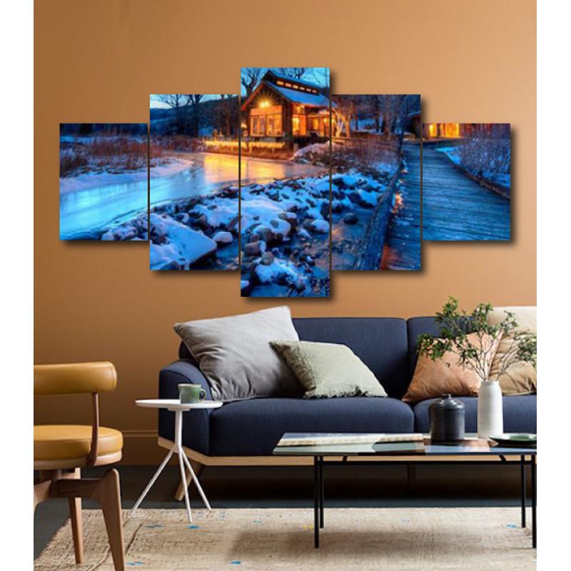 Wall Frames 5 Pieces Set Canvas - Digitally Printed Wall Canvas  post-172