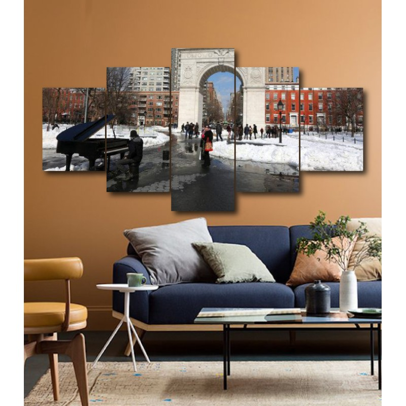 Wall Frames 5 Pieces Set Canvas - Digitally Printed Wall Canvas  post-174