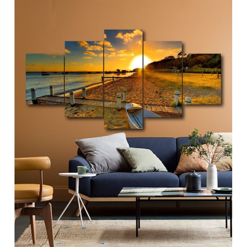 Wall Frames 5 Pieces Set Canvas - Digitally Printed Wall Canvas  post-175
