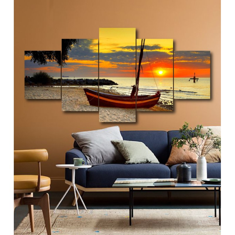 Wall Frames 5 Pieces Set Canvas - Digitally Printed Wall Canvas  post-176