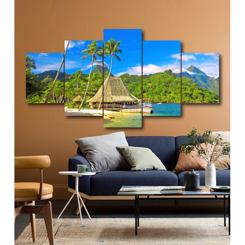 Wall Frames 5 Pieces Set Canvas - Digitally Printed Wall Canvas  post-178