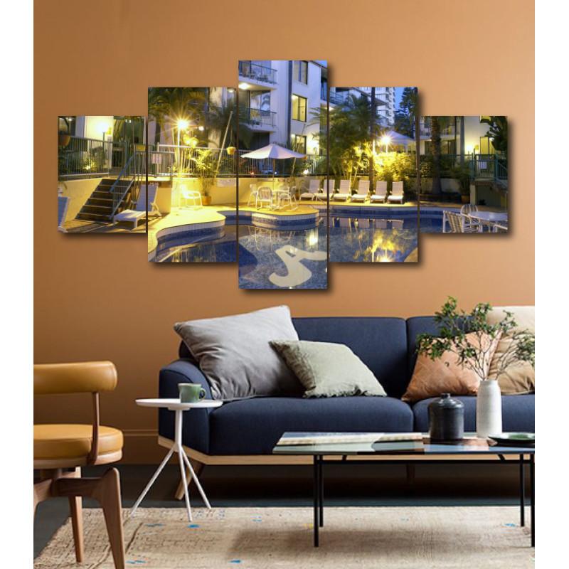 Wall Frames 5 Pieces Set Canvas - Digitally Printed Wall Canvas  post-180